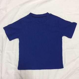 🚚 寶藍短袖上衣