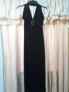 US brand long black evening dress