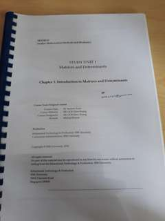 MTH 215 Further Mathematical Methods and Mechanics