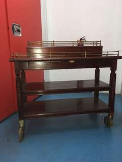 Vintage Wooden Drink Trolley/Cart