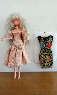 Baju boneka barbie