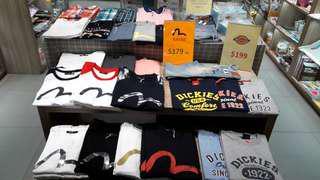 全新 韓國版 evisu tee T shirt 中性 S M L XL XXL 正版正貨 歡迎參觀