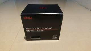 🚚 [二手]SIGMA 17-50mm F2.8 EX DC OS HSM 超廣角變焦鏡 公司貨- Canon