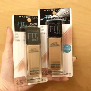 New Maybelline Fit Me Matte+ Poreless Foundation