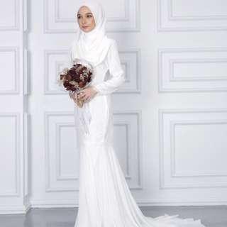 Minimalace Jeslina Akad Nikah/Wedding Dress for rent/untuk disewa