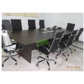 HB-701 EXECUVE OFFICE CHAIRS BLACK LEATHERETTE--KHOMI