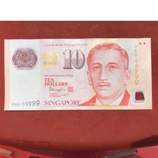 Good serial $10 note