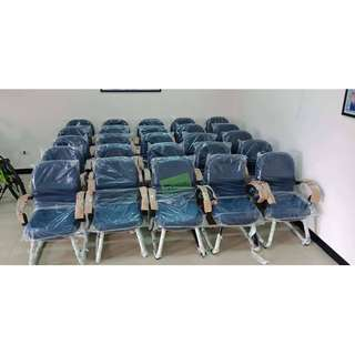 VISITORS CHAIRS MIDBACK SLED BASE NAVY BLUE COLOR