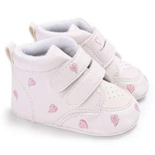 Baby Toddler Infant Pink Heart-shaped Soft Anti-slip Prewalker