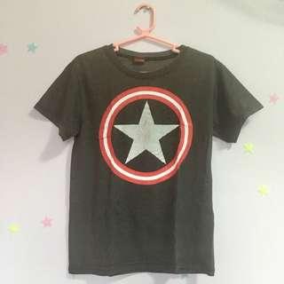 Captain America Black Shirt