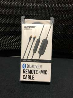 全新Shure BT 藍牙線 Bluetooth Enabled Remote + Mic Accessory Cable (RMCE-BT1)