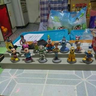 MTR x Disney 迪士尼 公仔12款連座一套(無盒)