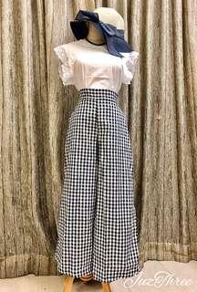 Gingham Skirt Pants