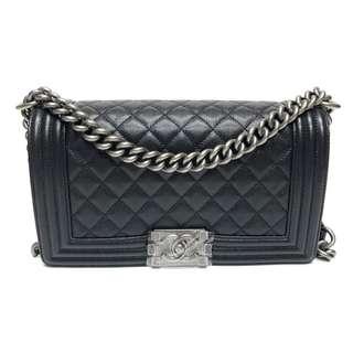Authentic Chanel Boy Medium Flap Bag