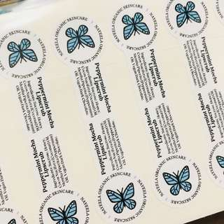 Business product sticker labels customised