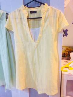 Maternity Yellow Top Blouse