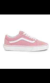 🚚 代購正品基本款 實拍Vans old skool pink 粉紅 白底 滑板鞋