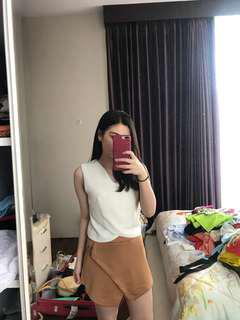 Brown skort (skirt-shorts)