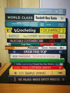 Miscellaneous self development books