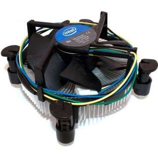 Intel Stock Cooler (No thermal paste) + Cooler Master 120mm CPU Fan