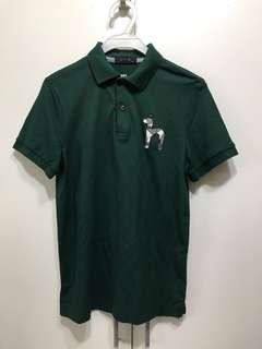 男裝-韓國品牌HAZZYS 綠色休閒POLO衫(size:95)
