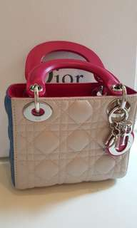 Pre-loved Lady Dior Mini in Tri Color