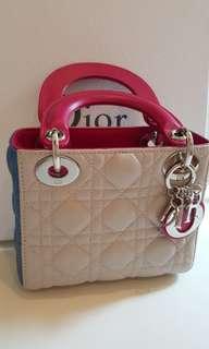 Pre-loved Lady Dior Mini in Tri Color