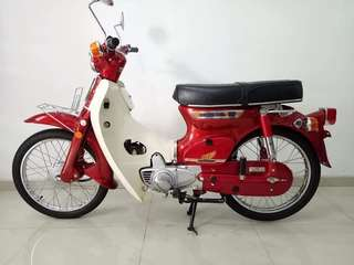 honda c70 full original tahun 80 platina 3 speed mint condition