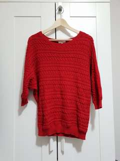 RED MIX SWEATER