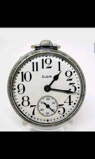 Very Nice 16s Elgin Grade 291 7j of Dbl Lvr Cit Case Pocket watch