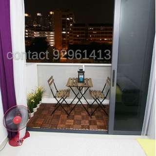 Condo Master Bedroom with balcony for rent @ Farrer Park MRT