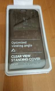 Flip Case Vivo v9 Clear view standing