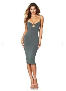 Nookie Flirt Midi Dress Olive