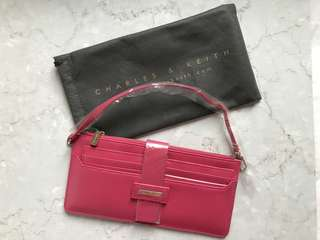 Charles and Keith in shocking pink colour