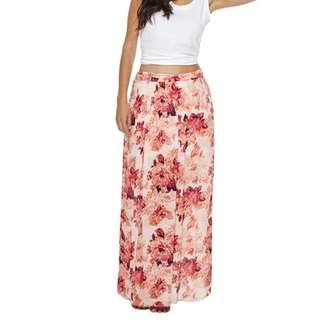 Billabong floral maxi skirt