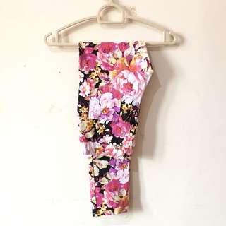 flower jegging pants