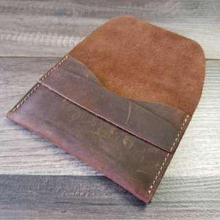 Leather Handmade mini Wallet (Customizable)