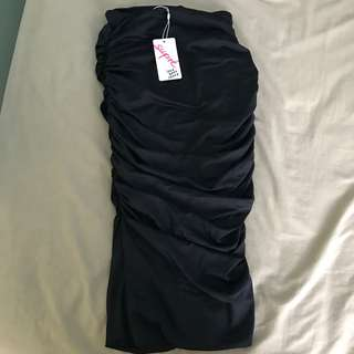Supre black midi skirt