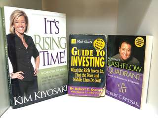 🚚 ♥RICH DAD POOR DAD♥ ROBERT & KIM KIYOSAKI!!  3 BOOKS AVAILABLE!! LIMITED!! 1 BOOK EVEN HAS ROBERT KIYOSAKI'S SIGNATURE!! HURRY!! GRAB BEFORE ITS GONE!!