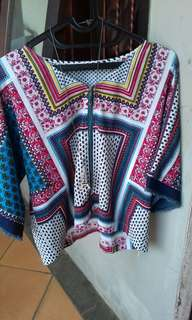 Blus look alike Zara (No deffect) LD 106 Cm, Pjg 53 Cm