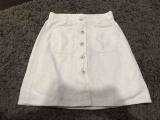 White Button Down Skirt