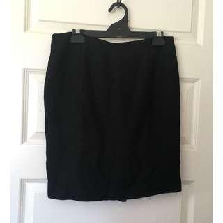 Cue Size 10 Black Work/Career Skirt