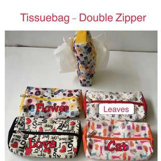 New tissuebag tissue bags organisers pouch double zipper