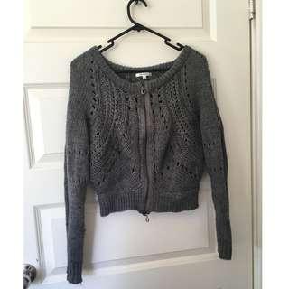 Size 8 Valleygirl Grey Knit Cardigan