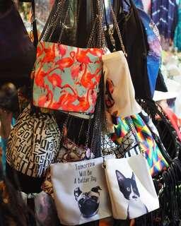 Bucket Chain Sling Bag