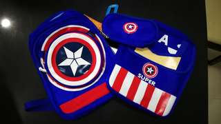 Captain America school bag 4 pcs set