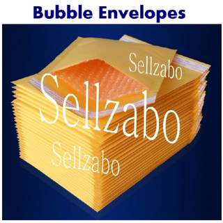 A4 Bubbles Envelopes : Mailing Protection Fragile Items Protect Protecting Kraft Paper Stationery Letters Many Size Big Small Mails Post Postage Posting Dark Yellow Colour Shock Proof Sellzabo