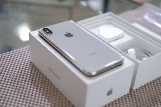 Iphone X 256gb silver original SECOND