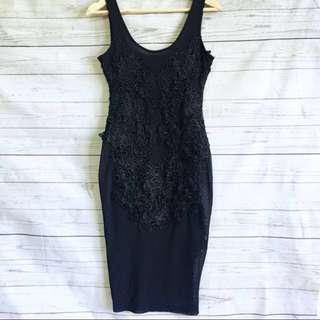 Bardot Black Mesh Dress Size 6