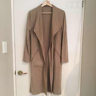 Beige Coat Size 6